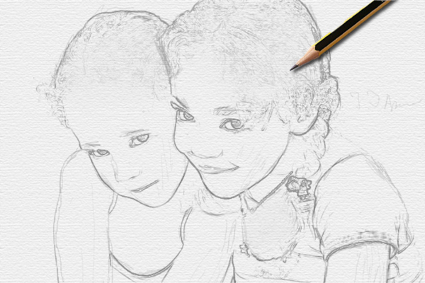 Turn a Photo into Pencil Drawing 17