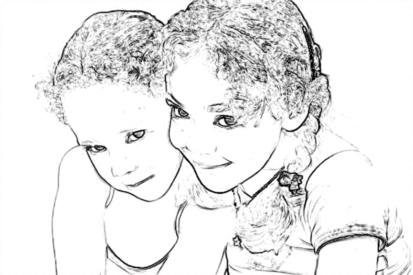 Turn a Photo into Pencil Drawing 9