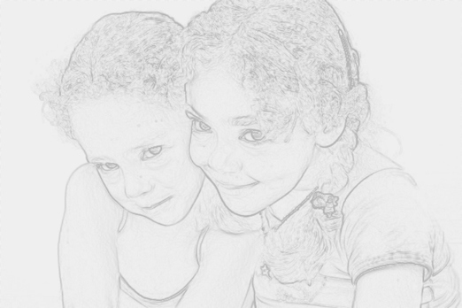 Turn a Photo into Pencil Drawing 11