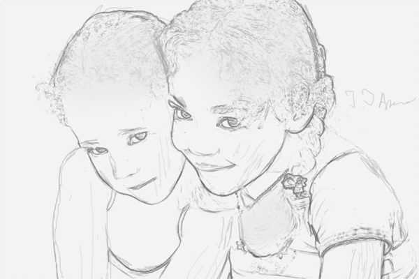 Turn a Photo into Pencil Drawing 12