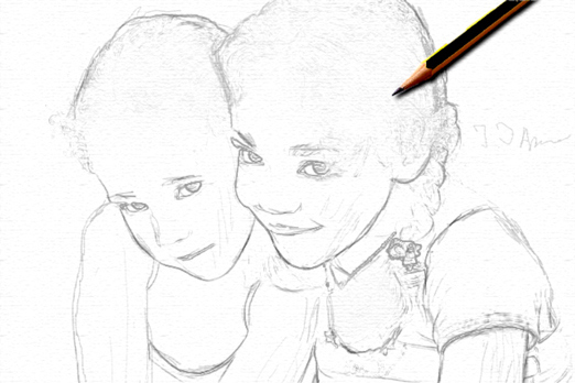 Turn a photo into pencil drawing