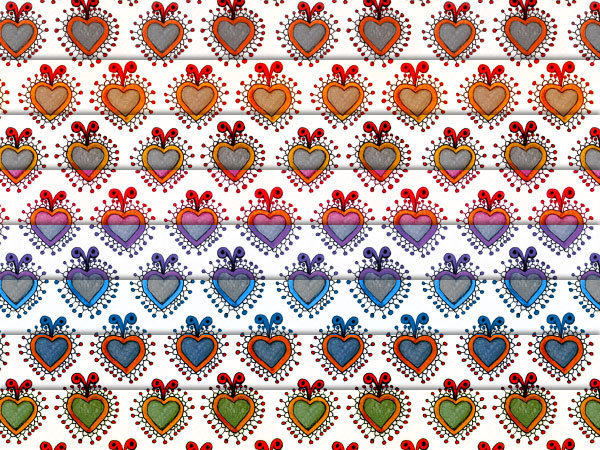 Quirky Seamless Hearts Patterns