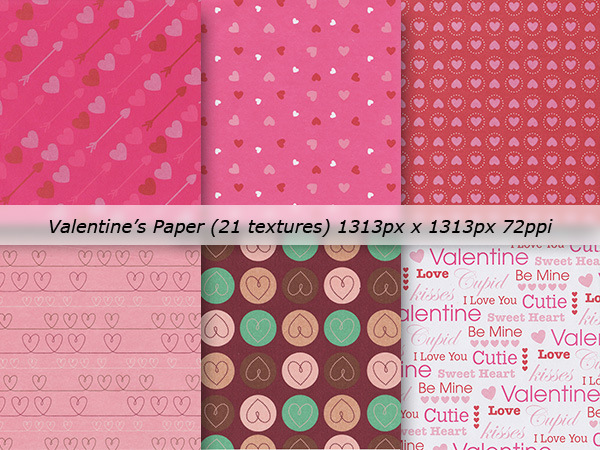 Valentine's Paper Textures Pack