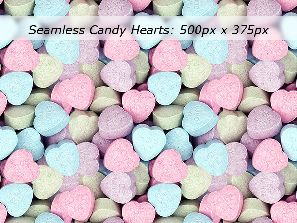 Seamless Candy Hearts