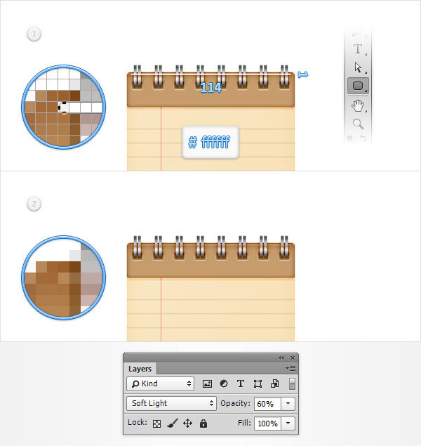 Create a Simple Notebook Icon in Adobe Photoshop 21