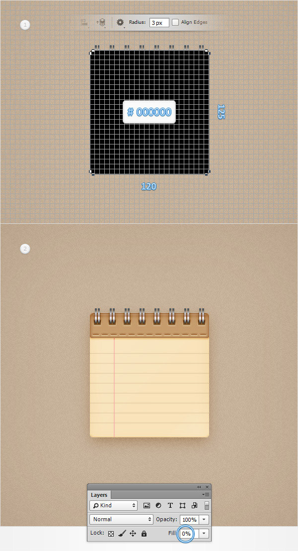 Create a Simple Notebook Icon in Adobe Photoshop 26