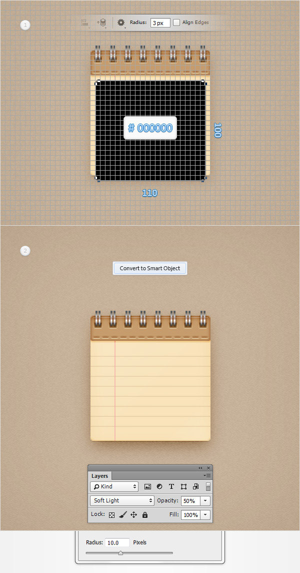 Create a Simple Notebook Icon in Adobe Photoshop 28