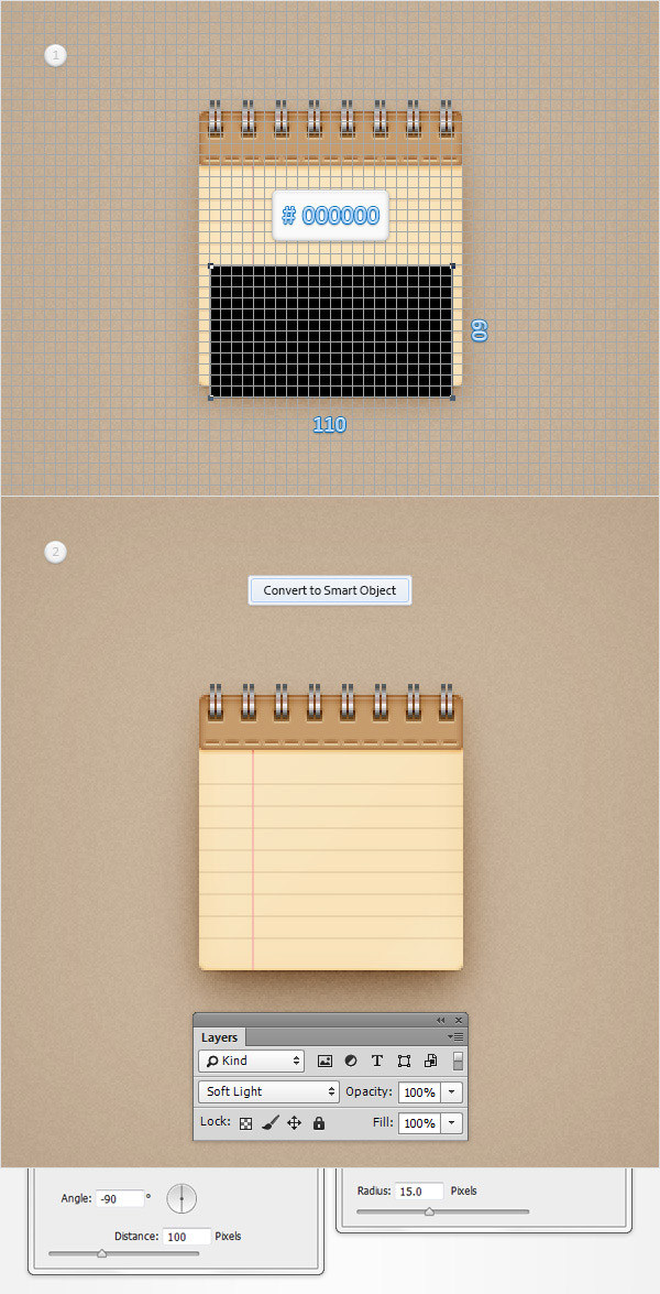 Create a Simple Notebook Icon in Adobe Photoshop 29
