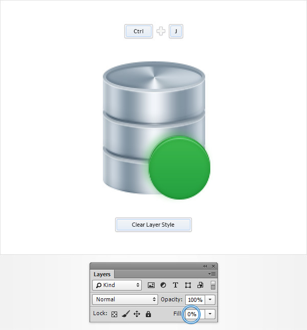 Create a Database Icon in Adobe Photoshop 15