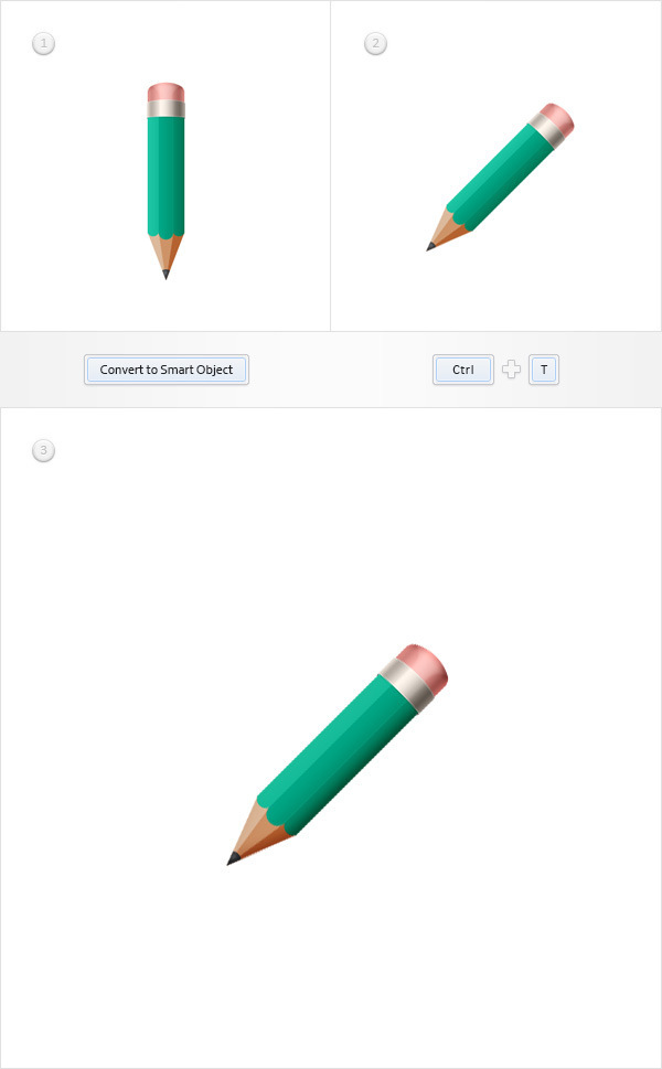 Create a Simple Pencil Icon in Adobe Photoshop 20