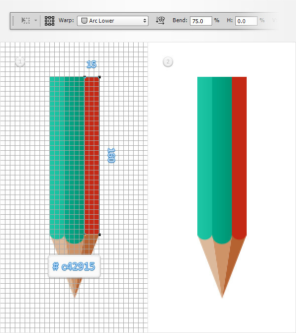 Create a Simple Pencil Icon in Adobe Photoshop 9