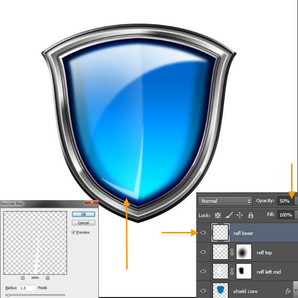 Create a Shiny Shield in Photoshop 62