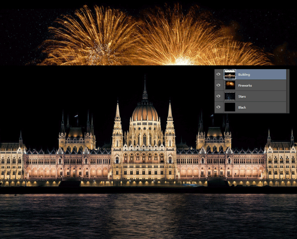 How to Add Fireworks to a Photo 6