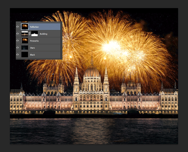 How to Add Fireworks to a Photo 9