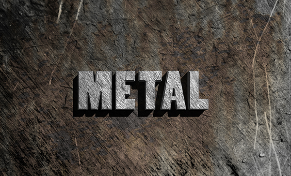 How to Create a Simple 3D Text Metal Effect in Photoshop CS6