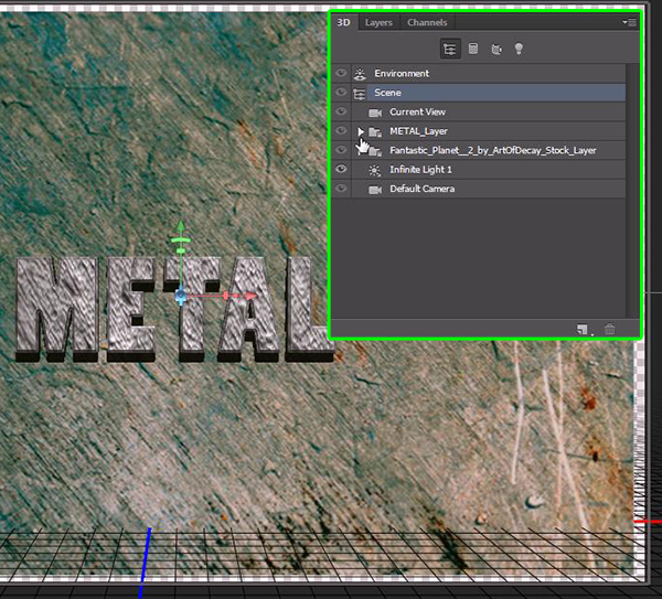 How to Create a Simple 3D Text Metal Effect in Photoshop CS6 step 17