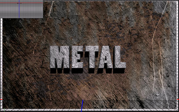 How to Create a Simple 3D Text Metal Effect in Photoshop CS6 step 25
