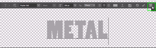 How to Create a Simple 3D Text Metal Effect in Photoshop CS6 step 3