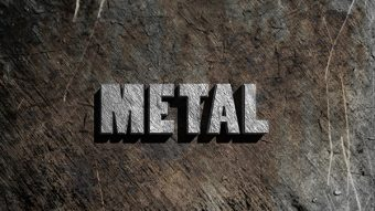 Create a Simple 3D Text Metal Effect