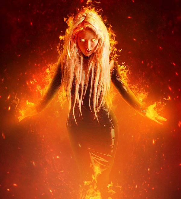 Create a Fantasy Fiery Portrait Photo-Manipulation