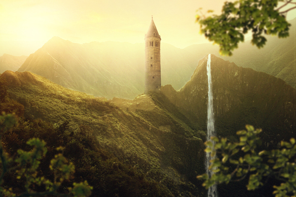 Create a Beautiful Sunrise Landscape Photo Manipulation