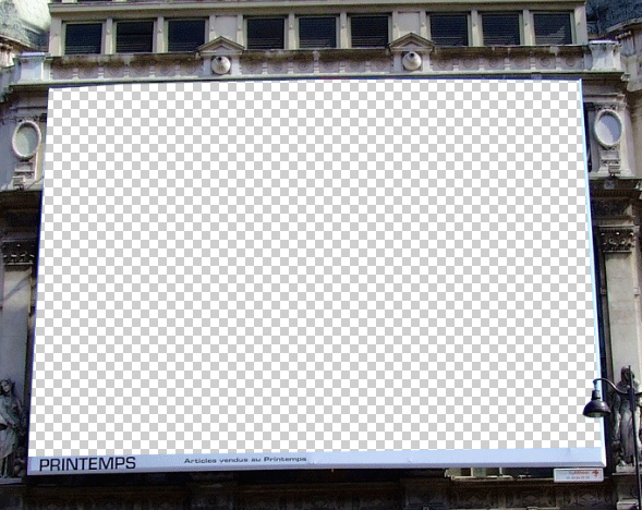 How to place a photo on an a big advertisment screen