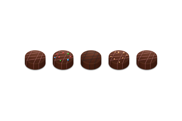 How to Create Chocolate Candies Text Effect in Photoshop 23