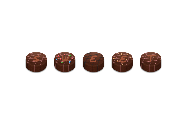 How to Create Chocolate Candies Text Effect in Photoshop 24