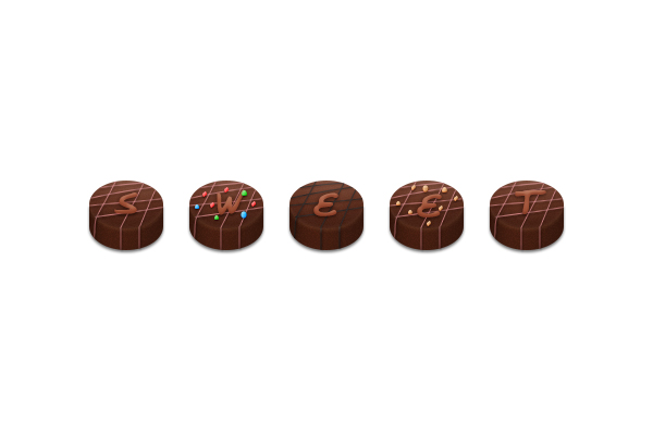 How to Create Chocolate Candies Text Effect in Photoshop 25