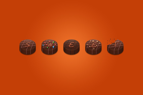 How to Create Chocolate Candies Text Effect in Photoshop Final