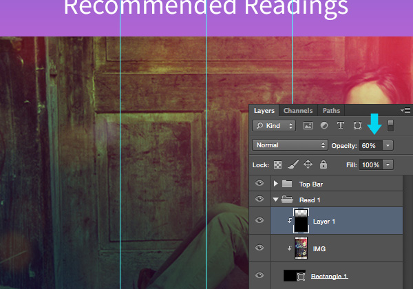 Designing 'Recommended Reading' Mobile App Interface in Photoshop 9
