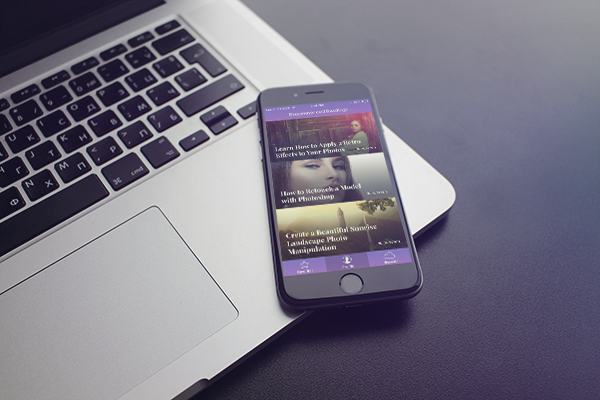 Designing 'Recommended Reading' Mobile App Interface in Photoshop