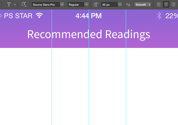 Designing 'Recommended Reading' Mobile App Interface in Photoshop 5
