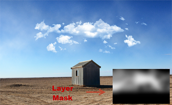 how to add sky new layer photoshop
