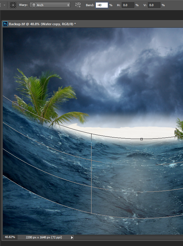 Create a Parting Sea Photo Manipulation in Photoshop