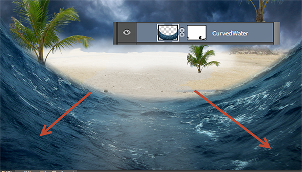 Create a Parting Sea Photo Manipulation in Photoshop 17