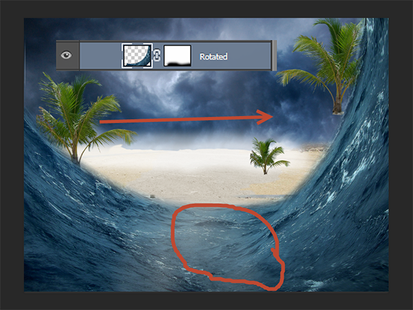 Create a Parting Sea Photo Manipulation in Photoshop 18