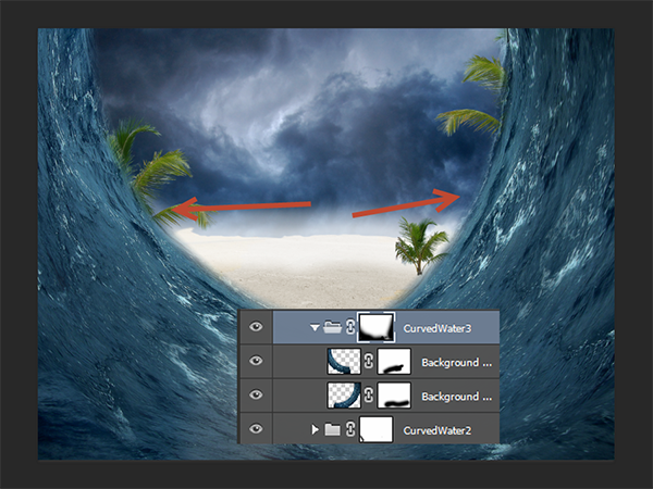Create a Parting Sea Photo Manipulation in Photoshop 21