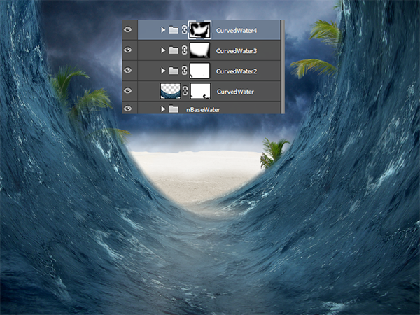 Create a Parting Sea Photo Manipulation in Photoshop 22
