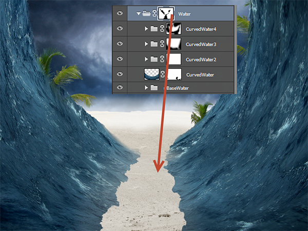 Create a Parting Sea Photo Manipulation in Photoshop 23