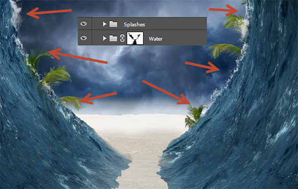 Create a Parting Sea Photo Manipulation in Photoshop 24