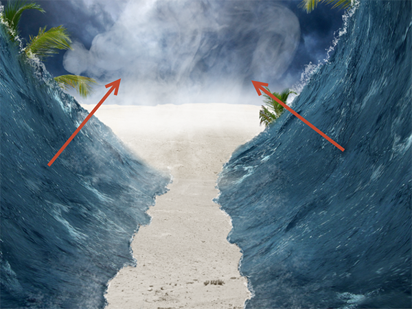 Create a Parting Sea Photo Manipulation in Photoshop 27