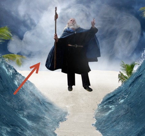 Create a Parting Sea Photo Manipulation in Photoshop 28