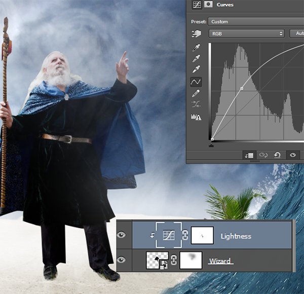 Create a Parting Sea Photo Manipulation in Photoshop 30
