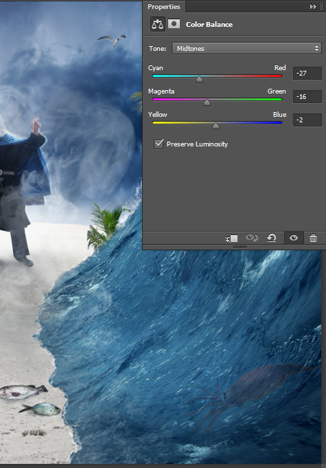 Create a Parting Sea Photo Manipulation in Photoshop 43