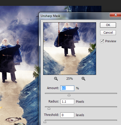 Create a Parting Sea Photo Manipulation in Photoshop 47