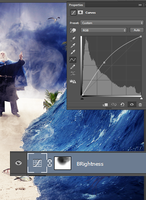 Create a Parting Sea Photo Manipulation in Photoshop 49