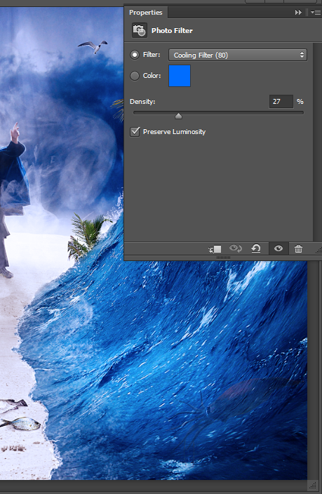 Create a Parting Sea Photo Manipulation in Photoshop 50