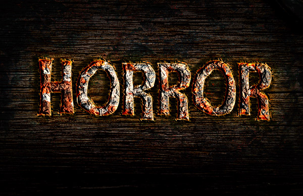 Create a Rusty Horror Text Effect
