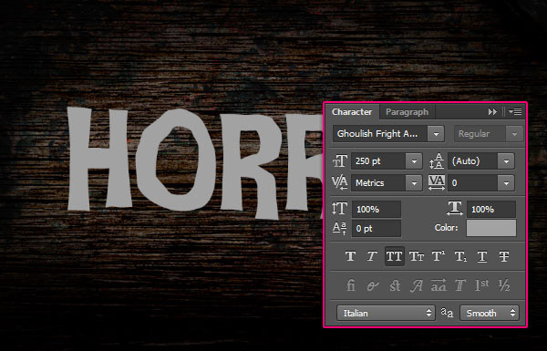Create a Rusty Horror Text Effect 8